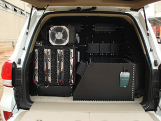 RF Jamming System in trunk