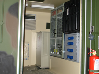 Jammer System in Military Shelter